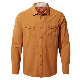 Craghoppers NosiLife Adventure II Camicia a maniche lunghe Uomo, giallo